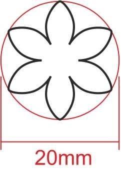 Fleur 6 Petales Troqueles Jupe Ta Boutique Chez Toi